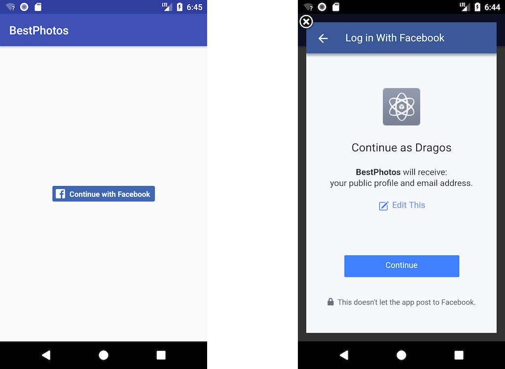 BestPhotos: Build an Android App with Facebook SDK - Dragos